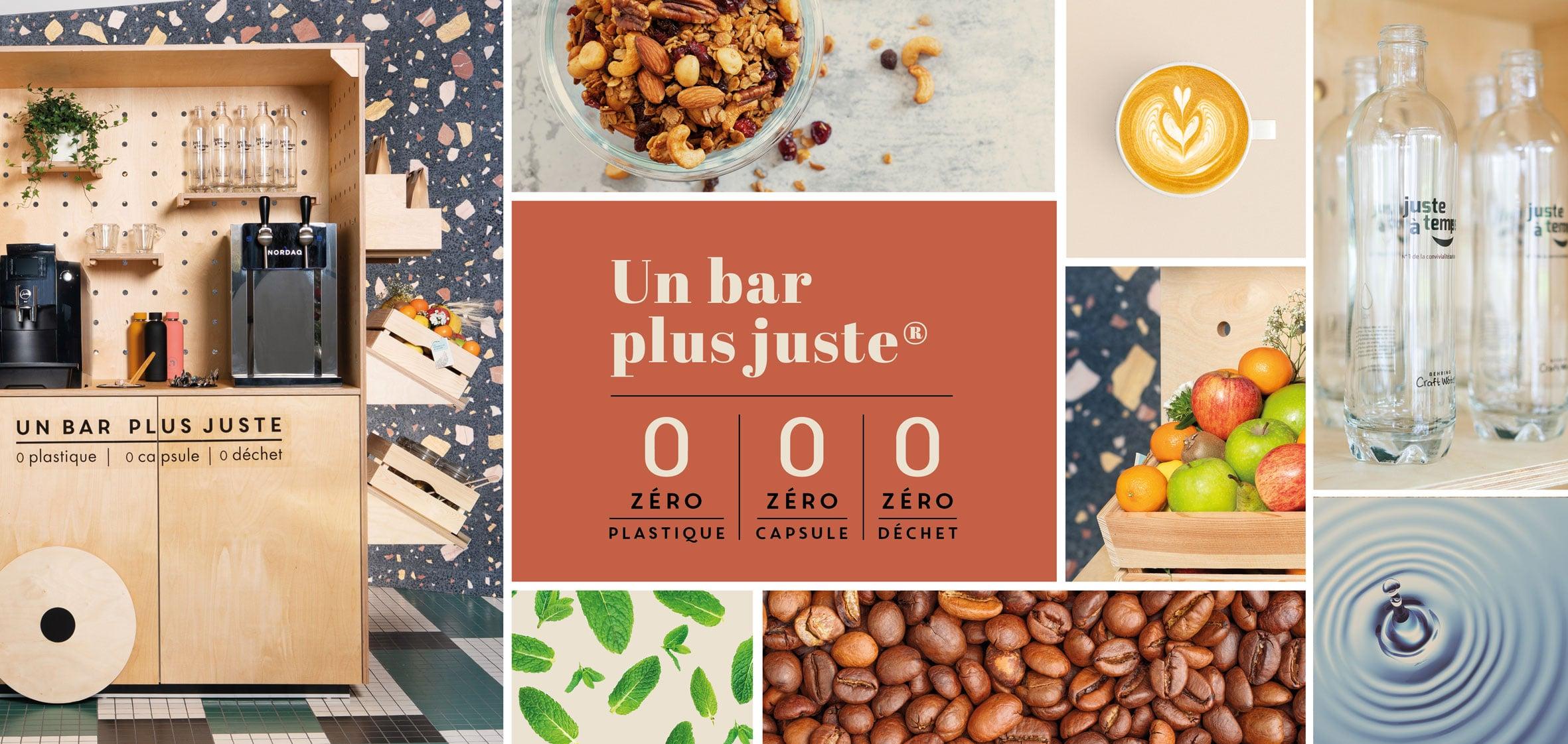 Bar plus juste : abonnement machine à café grains, fontaine a eau, corbeille de fruits au bureau